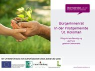 Pressekonferenz Bürgerrat - St. Koloman