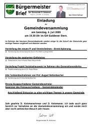 Bürgermeisterbrief (132 KB) - St. Koloman
