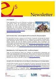 e5-Newsletter August 2010 - St. Koloman