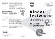 Kinder- festwoche - St. Koloman
