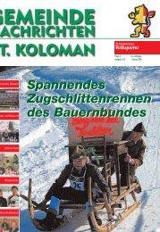 Gemeindezeitung Frühjahr 2006 (0 bytes) - St. Koloman