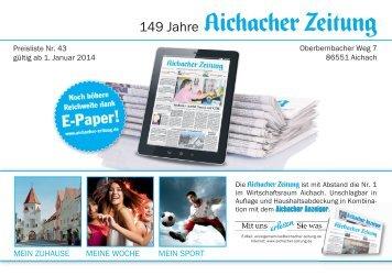 Mediadaten - Aichacher Zeitung