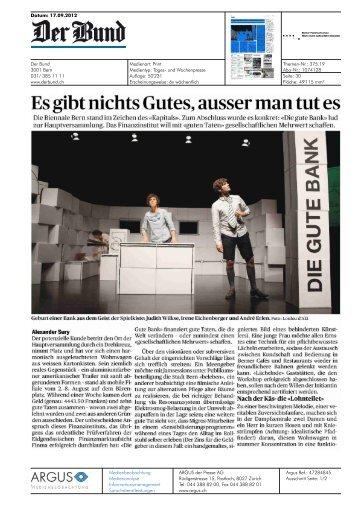 Es gibt nichts Gutes, ausser man tut es - Biennale Bern