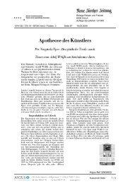 Apotheose des Künstlers - Biennale Bern