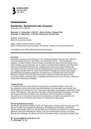 Nosferatu, Symphonie des Grauens - Biennale Bern