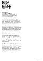 Version September 2005 Between Science and ... - Biennale Bern