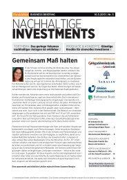 Business Briefing Nachhaltige Investments vom Mai ... - Handelsblatt