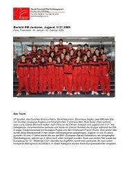 Bericht EM Junioren Jugend 2008 - Swiss Karate Federation