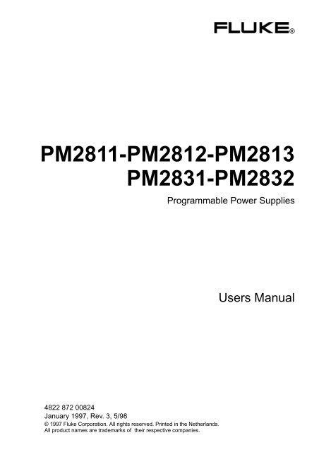 Fluke 98 Manual