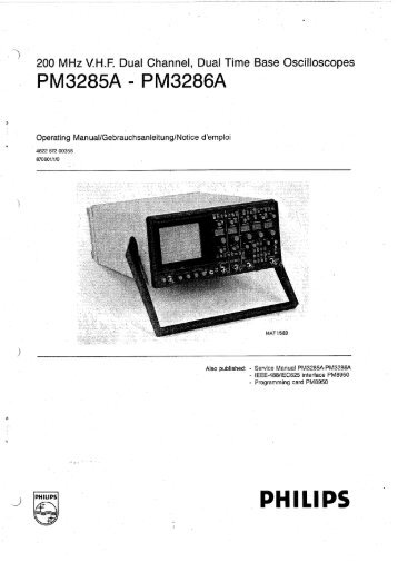 Philips PM3286A Owners Manual En