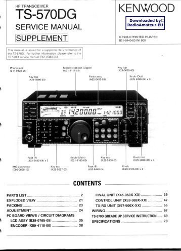 Kenwood ts 570dg Manual