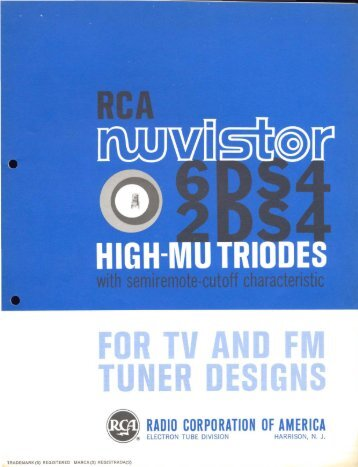 RCA 6DS4 2DS4 Nuvistor
