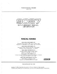 Racal 9087 Signal Generator Operation Manual