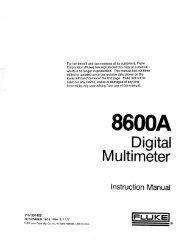 Fluke 8600A Digital Multimeter Instruction Manual