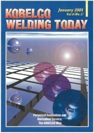 Kobelco Welding Today Vol.8 No.1 2005
