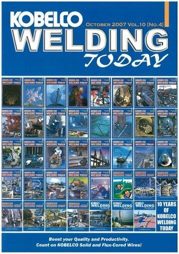 Kobelco Welding Today Vol.10 No.4 2007
