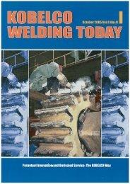 Kobelco Welding Today Vol.8 No.4 2005