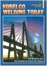 Kobelco Welding Today Vol.6 No.1 2003