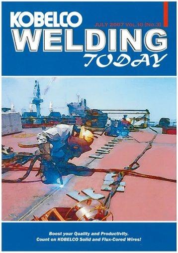 Kobelco Welding Today Vol.10 No.3 2007