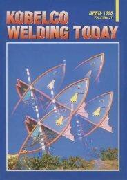 Kobelco Welding Today Vol.1 No.2 1998