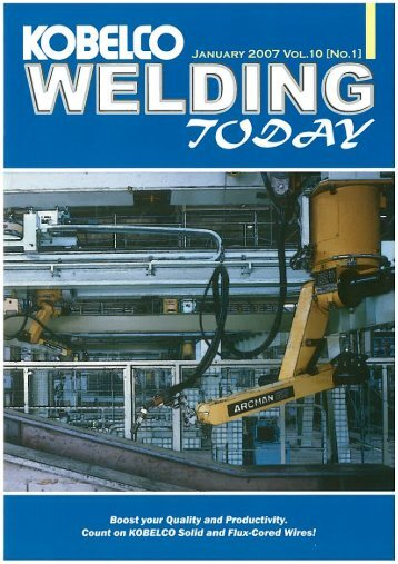 Kobelco Welding Today Vol.10 No.1 2007