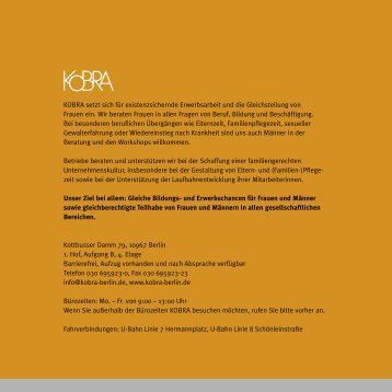 KOBRA-Programm August 2013 - Juli 2014