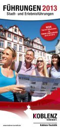 FührUNgEN 2013 - Koblenz-Touristik