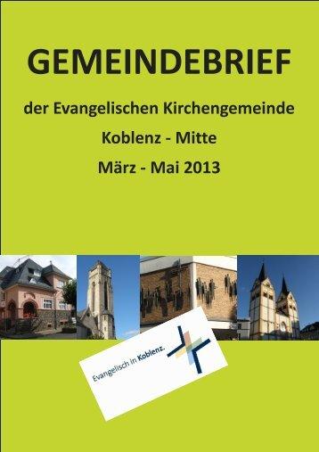 Mai_2013.(pdf 7mb) - Evangelische Kirchengemeinde Koblenz-Mitte
