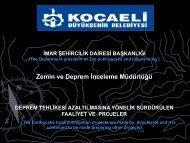 Zemin ve Deprem Ġnceleme Müdürlüğü - Kocaeli Büyükşehir ...