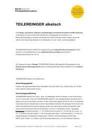 TEILEREINIGER alkalisch - Koch-Chemie