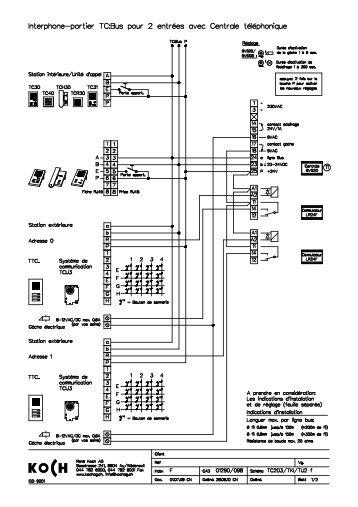 TC203/ 2 entrées/ téléphone TC203/TKI/TU2f - René Koch AG