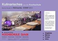 WEIHNACHTS - Kochschule Schütt