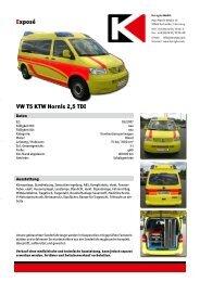 Exposé VW T5 KTW Hornis 2,5 TDI