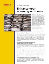 Enhance your scanning with ease. - Kodak