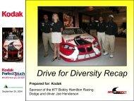 Drive for Diversity Recap - Kodak