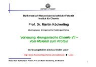 Prof. Dr. Martin Köckerling Vorlesung ... - Festkörperchemie