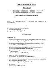 öffentlichen Gemeinderatssitzung - Köflach