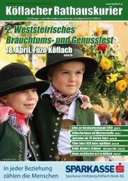 Köflacher Rathauskurier - Stadtgemeinde Köflach