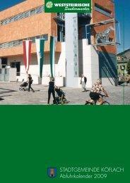 STADTGEMEINDE KÖFLACH Abfuhrkalender 2009