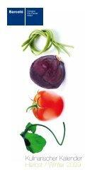 Kulinarischer Kalender Herbst / Winter 2009