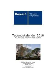 Tagungskalender 2010 - Köln Locations
