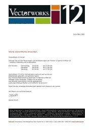 Werte VectorWorks Anwender, - Koelncad.de