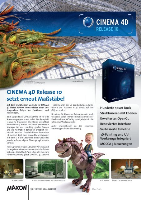 CINEMA 4D Release 10 setzt erneut Maßstäbe! - Koelncad.de