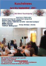 Kuschelnews Kuschelnews - Die Kölner Kuschelparty