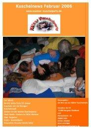 Kuschelnews Februar 2006 - Die Kölner Kuschelparty
