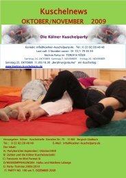 Kuschelnews Oktober 2009 - Die Kölner Kuschelparty