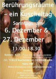 Berührungsräume - ein Kuscheltag 6. Dezember & 27. Dezember