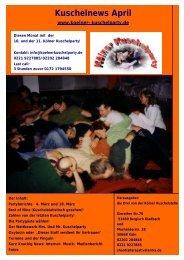 Kuschelnews April 2006 - Die Kölner Kuschelparty