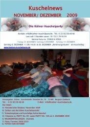 Kuschelnews November 2009 - Die Kölner Kuschelparty