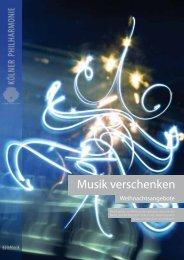 Musik verschenken - Kölner Philharmonie